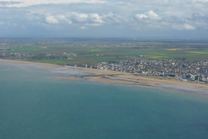 Gold beach - here the British forces disembarked