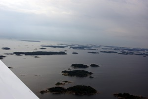 The islands of the Gulf of Filnland - on the way from Hanko to Helsinki