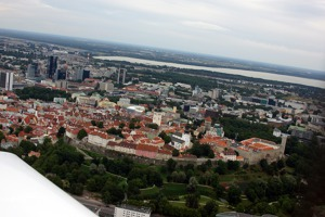 Tallinn - the old town and the castle of Toompea