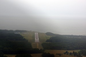 Rainy landing at Kardla, Estonia