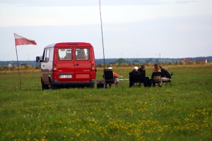 Glider enthusiasts in Suwalki start their flying day already at 6.30 a.m.