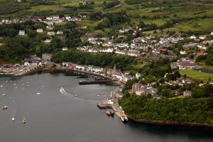 Tobermory town – the capital of Mull island, Inner Hebrides, Scotland, UK