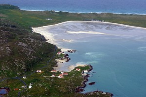 Barra island airport, Outer Hebrides. This is the only licensed airport in the world based on a beach