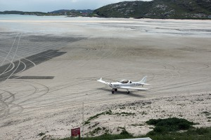 OK LEX on the apron of Barra airport