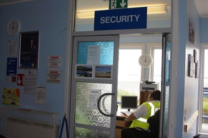 Security check - Barra airport