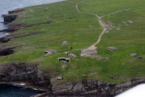 Remains of British fortifications from WWII - Scapa Flow, Orkney Islands, Scotland