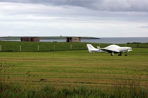 OK LEX at Lamb Halm airport, Orkney Islands