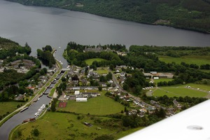 Confluence  of the artificial part of Caledonian canal and the Loch ness by way of a series of locks.