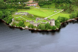Remains of Urquhart castle, Loch Ness, Scotland, UK