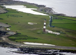 North Ronaldsay lighthouse - westernmost tip of Orkney islands