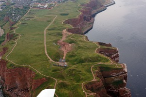 Walking path around Hauptinsel, Helgoland. It takes about 1 hour