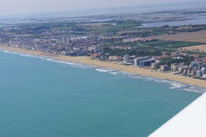 The beaches between Bibione and Venice, Italy