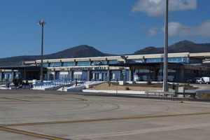 Melilla airport, terminal building, Spanish territory in northern Africa