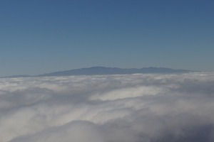 Grand Canaria coming out of the clouds