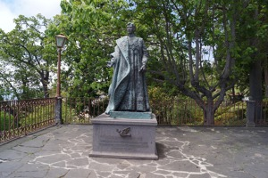 The statue of Archduke Otto who died on Madeira
