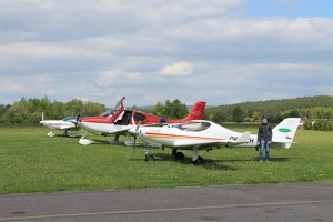 Cirrus SR 20 which participated in the welcome formation flight