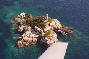 Peristeres lighthouse, north-east Corfu