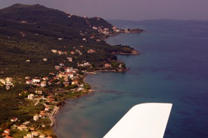 The coast of southern Cephalonia, Ionian Islands