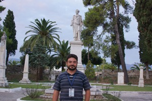 Jorgos - my guide at the cemetery of Messolonghi