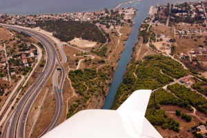 Motorway junction Athens - Peloponessos close to Corinth canal