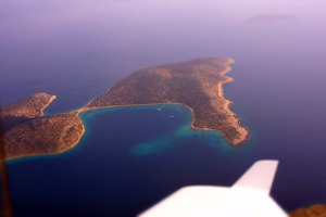 Sesklio island - a reporting point of Rhodos island airport