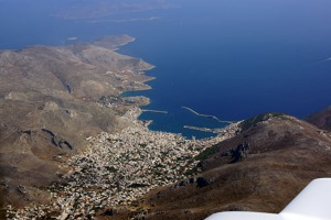 Kalymnos island, north of Gyali and Nisyros islands