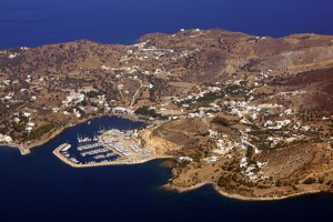 Lipsi island and port