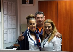 Vey pleasant team of people looking after me at Lesvos Myitilini airport