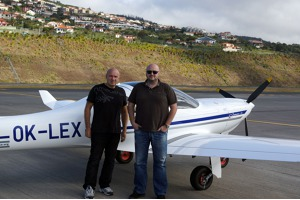 With a friend Dinartem airport Funchal, Madeira
