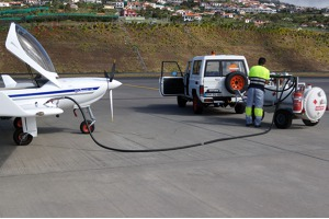 Refueling in Funchal Airport, Madeaira