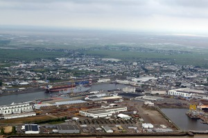 The port of St Nazaire